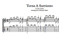 Torna A Surriento Sheet Music & Tabs の画像