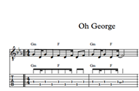 Oh George Sheet Music & Tabs の画像