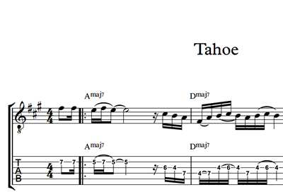 Picture of Tahoe Sheet Music & Tabs