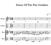 Picture of Dance Of The Fire Goddess Sheet Music & Tabs