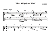 Picture de What A Wonderful World Sheet Music & Tabs
