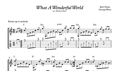 Michael Marc What A Wonderful World Sheet Music Tabs Dexter Soundtrack
