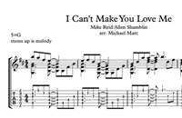 Picture of I Can't Make You Love Me Sheet Music & Tabs