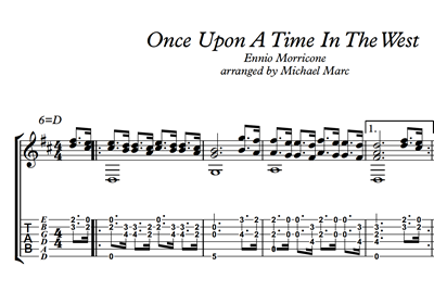 Picture de Once Upon A Time In The West Sheet Music & Tabs