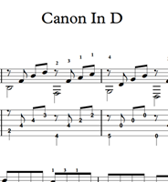 Изображение Canon In D (Pachelbel) Sheet Music & Tabs Download