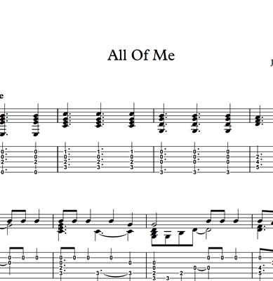 Bild von All Of Me - Sheet Music & Tabs