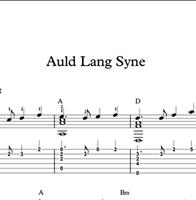Hình ảnh của Auld Lang Syne - Sheet Music & Tabs