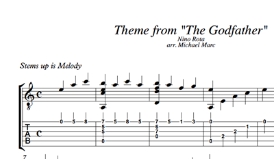 Picture de Godfather Sheet Music & Tabs