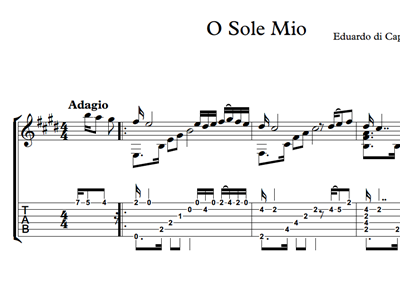 Picture of O Sole Mio Sheet Music & Tabs