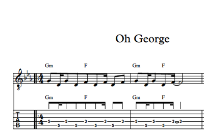 Picture of Oh George - Sheet Music & Tabs