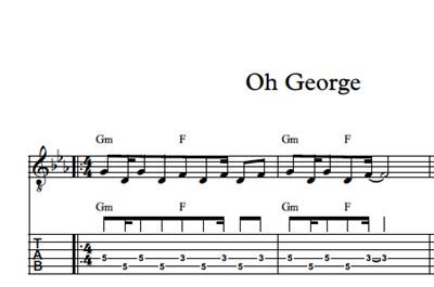Hình ảnh của Oh George - Sheet Music & Tabs