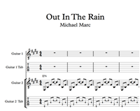 Out In The Rain - Sheet Music & Tabs の画像