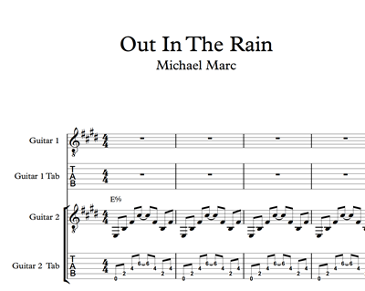 Imagen de Out In The Rain Sheet Music & Tabs