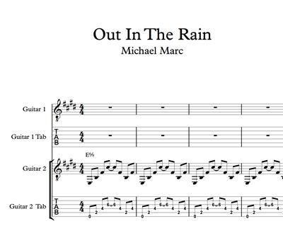 Hình ảnh của Out In The Rain - Sheet Music & Tabs