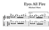 Bild von Eyes All Fire Sheet Music & Tabs