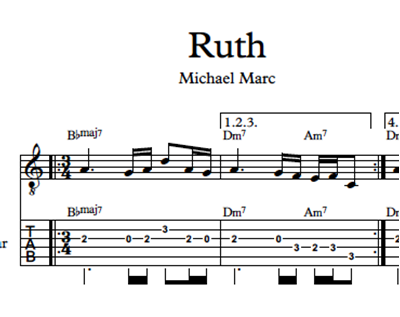 Image sur Ruth - Sheet Music & Tabs