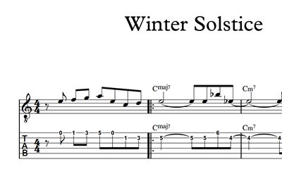 Image sur Winter Solstice - Sheet Music & Tabs
