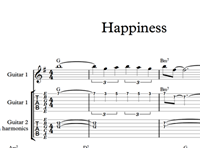 Снимка на Happiness - Sheet Music & Tabs