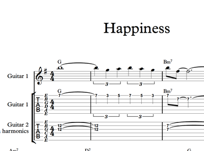 Immagine di Happiness - Sheet Music & Tabs