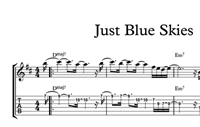 Just Blue Skies - Sheet Music & Tabs の画像
