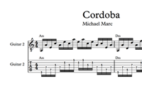 Cordoba Sheet Music & Tabs の画像
