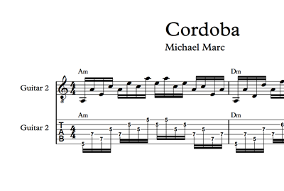 Picture of Cordoba Sheet Music & Tabs
