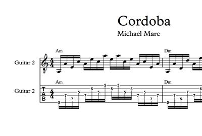 Image sur Cordoba - Sheet Music & Tabs