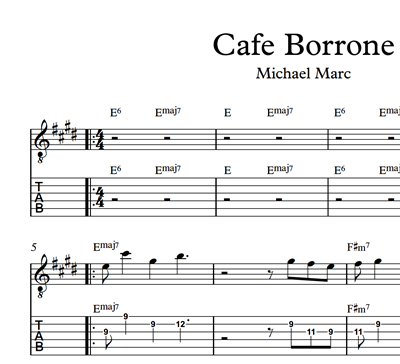 Image sur Cafe Borrone - Sheet Music & Tabs