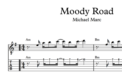 Picture of Moody Road Sheet Music & Tabs