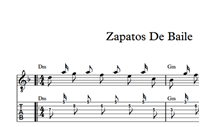 图片 Zapatos De Baile - Sheet Music & Tabs