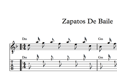 Picture of Zapatos De Baile - Sheet Music & Tabs