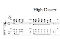 图片 High Desert - Sheet Music & Tabs