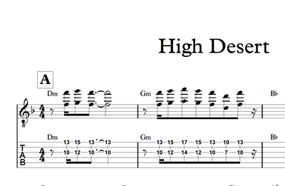 Image sur High Desert Sheet Music & Tabs