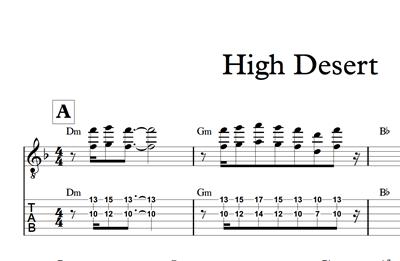Hình ảnh của High Desert - Sheet Music & Tabs