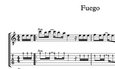Image sur Fuego - Sheet Music & Tabs