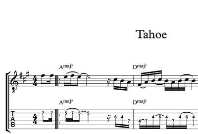 Image sur Tahoe - Sheet Music & Tabs