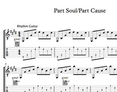 Image sur Part Soul Part Cause Sheet Music & Tabs