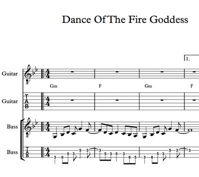 Image sur Dance Of The Fire Goddess - Sheet Music & Tabs