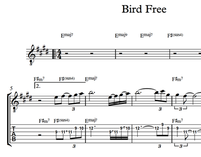 Imagen de Bird Free - Sheet Music & Tabs