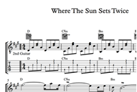 Imagen de Where The Sun Sets Twice Sheet Music & Tabs