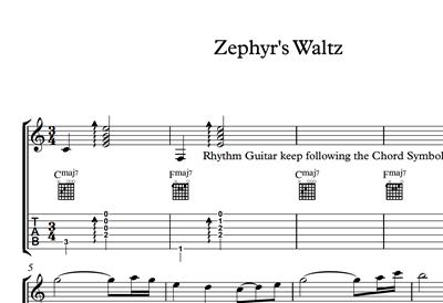 Image sur Zephyr's Waltz - Sheet Music & Tabs