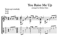 Picture of You Raise Me Up - Sheet Music & Tabs