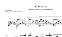 "Cavatina (from ""The Deer Hunter"") Sheet Music の画像"