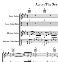 图片 Across The Sea Sheet Music & Tabs