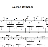 Изображение Second Romance Sheet Music & Tabs