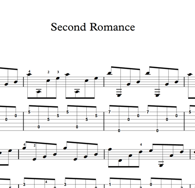 Image sur Second Romance - Sheet Music & Tabs