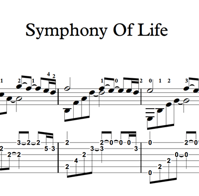 Image sur Symphony Of Life - Sheet Music & Tabs