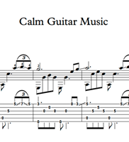 Picture de Calm Guitar Music - Sheet Music & Tabs
