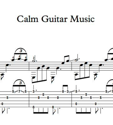 Image sur Calm Guitar Music - Sheet Music & Tabs