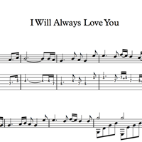 图片 I Will Always Love You - Sheet Music & Tabs
